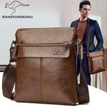 Kangaroo Original Leather Men'S Messenger Bag Shoulder Waterproof Bag