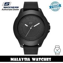 SKECHERS (Official Warranty) Sr5008 Men'S Rosecrans Oversize Xl Quartz Black Silicone Strap Watch (2 Years Warranty)