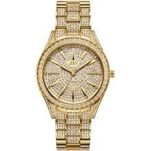 JBW Cristal 34 Quartz Diamond Gold Dial Ladies Watch J6383A