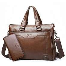 kangaroo kingdom Kangaroo Men'S Bag Business Genuine Leather Shoulder Bag Notebook Men Clutch Bag
