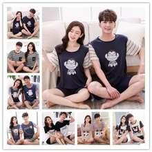 Uniqlo Alin Couple Pajamas Summer Short-Sleeved Pajamas Female Pajamas Homewear Man Pajamas Home Service Suit Sleepwear Pajama
