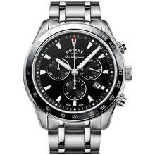 ROTARY Legacy Chronograph 43Mm Black Dial Silver Stainless Steel Gb90169/04