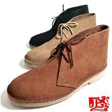Johnson Shoes Original Johnson Men Classic Leather Half Cut Shoes Desert Boot  Kasut Kuit Johnson Chukka Boot