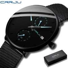 Crrju 100% Original Men'S Watch Fashion Fashion Casual Stainless Steel Waterproof Japan Movement Watches Sport Wristwatch