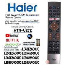 Haier *High Quality* HTR-U27E Smart android Led TV Remote Control With NETFLIX YouTube