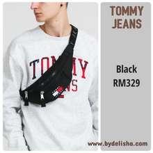 Tommy Hilfiger Men Cross Body Bag Black Tommy Jeans Flag Logo