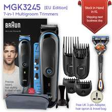 Braun MGK3245 7-in-1 beard face and hair trimmer for men with Gillette Fusion5 ProGlide razor for clean shaving [EU Edition]