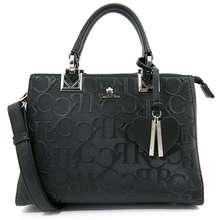 Carlo Rino My Cool Bag Monogrammed Top Handle Tote - Black