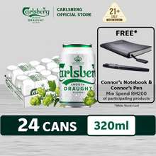 Carlsberg Smooth Draught Beer Can (320Ml X 24)