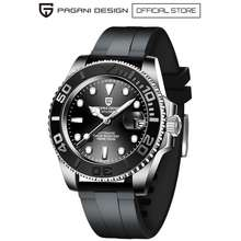 Pagani Design 40Mm Men'S Rubber Automatic Watch Pd-1651R