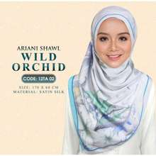 ARIANI Tudung / Hijab Printed Shawl Wild Orchid / Matiere / Wisteria / Rose Cubic / Wonderstuck