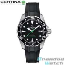 Certina [Official Warranty] C032.407.17.051.00 Mens DS Action Diver Automatic Powermatic 80 Rubber Strap Watch C0324071705100 (watch for men / jam tangan lelaki / watch for men / watch / men watch)
