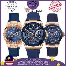 GUESS [100% Original & Free Bracelet] Zena Multi Function Chronograph Men Women Couple Watch W1049G2 W1049L2 W1053L1