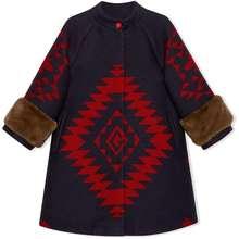 Gucci Kids Geometric Bee Coat Blue