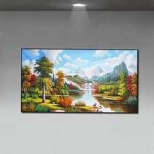 Roccobarocco 100% Hand Painted Oil Painting on Canvas Landscape Oil Painting Home Hotel Wall Decoration No Frame