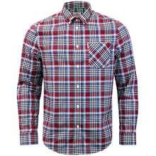 Ben Sherman Gingham Tartan Check Long Sleeve Shirt Regular Mod Fit - Summer Sky (Size M)
