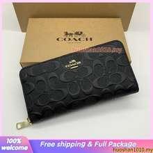 Coach 53834 Stereoscopic Pattern Women'S Wallet Long Wallet Zip Purses Long Purses