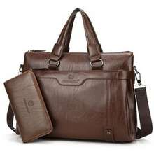 Maya Faux Leather Briefcase