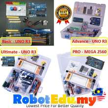 Arduino UNO R3 / Mega 2560 RBT School Basic / Advance / Ultimate / Pro Upgraded Beginner Starter Kit Sensor LED LCD Module Learning Kits Electrical Engineering Engineer Robotics RBT Tingkatan 2 3 - FREE DOWNLOAD SOFTWARE IDE SOFTWARE - READY STOCK
