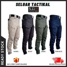 5.11 Tactical [Ready Stock] 2021 New Unisex Tactical Elasticated Waist Pants 10 Pockets