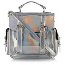 Dorothy Perkins By Henry Holland Designer Hologram Sliver Satchel Slign Bag