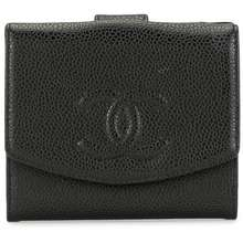 CHANEL Pre Owned Cc Logo Wallet Black