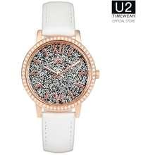 U2 Timewear U2Timewear Glitter Leather Women Watch 294Uls - White