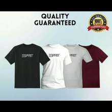 Esprit Ready Stock Original Cotton T-Shirt Unisex 100% Cotton New Baju Lelaki & Perempuan