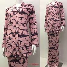 Nayla.Z Baju Kebaya Kurung Floral Design Long Sleeve Lengan Panjang Material Cotton Crepe T5996