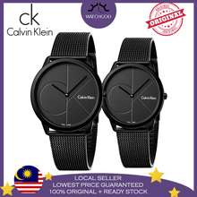 Calvin Klein [Authentic] Minimal Swiss Black Men Women Ladies Couple Watch Jam Tangan Lelaki Perempuan K3M514B1 K3M524B1 K3M514B1 (Men)