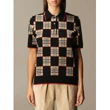 Burberry Polo Shirt Jennifer In Check Merinos Wool Blend