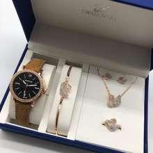 Swarovski Set Jam Tangan Wanita Swarovki Diamond Full Set Ladies Watch Limited Edition Readystock