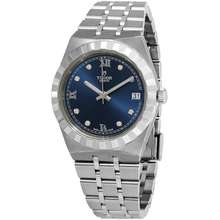 Tudor Royal Diamond Blue Sunray Dial Ladies Watch M28400 0007