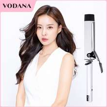 VODANA Hair Curler 40mm big Waver Hair Ceramic Heating Plate electric roll stick fast heating negative ion curly hair iron Not Hurt Hair Professional Hair Styling Tool With 360° Rotating Power Cord curling wand korean (white/Pink/Black/Pueple)