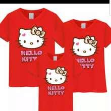 Hello Kitty Familiy Tshirt😍😍😍😍😍Good Quality 80% Cotton,3 Pc