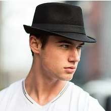 LITBest Men's Fedora Hat Solid Colored Fabric leatherette Hat