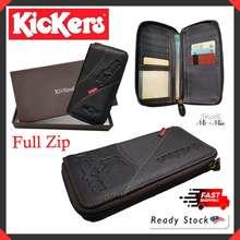 Kickers Kl/Z| Men Long Leather Zip Wallet Quality Baik Lelaki Dompet Panjang Gift Fatherday男款长版钱包