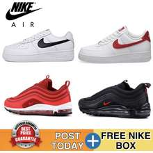 Nike 🔥24Hours Delivery🔥 Malaysia Ready Stock Nike Sneakers Air Max 97 Air Force 1 Nike Zoom Women Men Low Top Sneakers