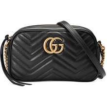 Gucci Gg Marmont Small Matelassé Shoulder Bag Black