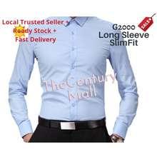 G2000 Long Sleeve Slim Fit Men Business Formal Office Wear Smart Shirt