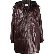 AMBUSH Zipped Up Leather Coat Brown