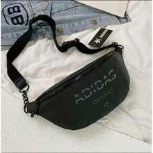 adidas Ready Stock Malaysia Pouch Bag ~Waist Bag Unisex Women Men Casual School Sport Canvas Pu Leather Pouch Bag