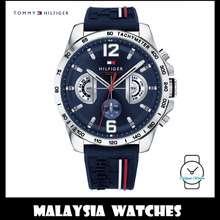Tommy Hilfiger (100% Original) Decker Men'S 1791476 Silicon Watch (Navy Blue)