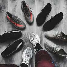 adidas Yeezy Korean Version Of The New Male Couple Yezzy Coconut Shoes Female Flying Woven Trend Breathable Wild Casual Mesh Sports