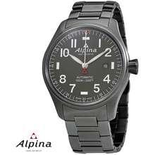 Alpina Startimer Pilot Swiss Automatic Grey Stainless Steel Watch