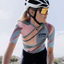 Mycycling Womens Cycling Jersey Team Racing Clothing Female Bicycle Riding Shirt Colorful Short Sleeve Wear Mountain Bike Motorcycle Jerseys Motocross Sportwear Clothing Cycling Bicycle Outdoor Short Sleeves Jersey