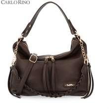 Carlo Rino Dark Brown Wear To Pair Hobo Shoulder Bag