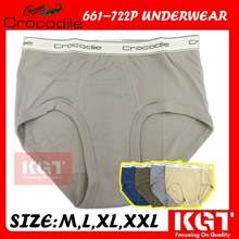 Crocodile Spender Lelaki Seluar Dalam Lelaki 661-722P Jenama Cap Buaya Men Briefs Underwear Brand Original