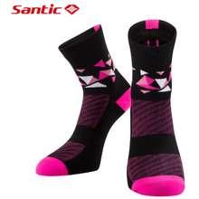 Santic Women Cycling Running Socks Breathable Antiseptic Anklet Socks