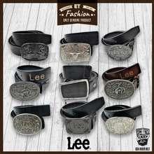 Lee Cooper ® Men'S Big Buckle Belt 100% Genuine Real Cow Leather Belt Tali Pinggang Lelaki Kulit Lembu Big Buckle Kepala Besi